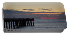 Portable Battery Charger featuring the photograph Sunny Isles Fishing Pier Sunrise by Rafael Salazar
