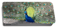 Portable Battery Charger featuring the photograph Sunny Peancock by Caryl J Bohn