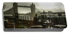 Sunny Rainstorm In London - England Portable Battery Charger by Georgia Mizuleva