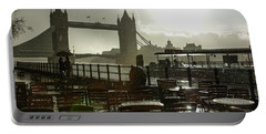 Sunny Rainstorm In London England Portable Battery Charger