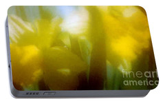 Portable Battery Charger featuring the photograph Sunny Yellow Daffodils by Michael Hoard