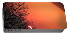 Sunrise And Hibernating Tree Portable Battery Charger