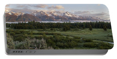 Sunrise At Grand Teton Portable Battery Charger