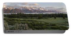 Sunrise At Grand Teton Portable Battery Charger