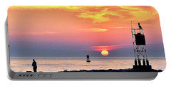 Sunrise At Indian River Inlet Portable Battery Charger