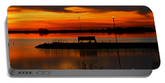 Sunrise At Jackson Portable Battery Charger by Steven Reed