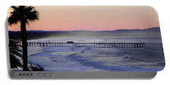 Sunrise At Pismo Beach Portable Battery Charger by Kathy Churchman