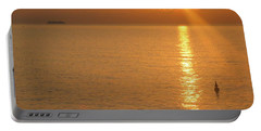 Sunrise At Sea Portable Battery Charger by Photographic Arts And Design Studio