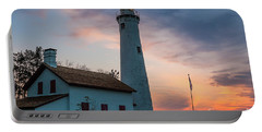Portable Battery Charger featuring the photograph Sunrise At Sturgeon Point by Patrick Shupert