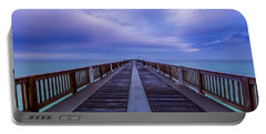 Sunrise At The Panama City Beach Pier Portable Battery Charger