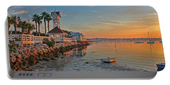 Sunrise At The Pier Portable Battery Charger by HH Photography of Florida