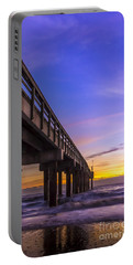 Sunrise At The Pier Portable Battery Charger