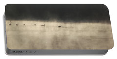 Sunrise Geese Portable Battery Charger by Melissa Petrey