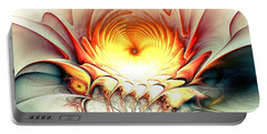 Portable Battery Charger featuring the digital art Sunrise In Neverland by Anastasiya Malakhova