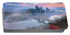 Pittsburgh Fall Day Portable Battery Charger