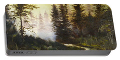 Sunrise In The Forest Portable Battery Charger by Lee Piper