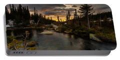 Sunrise In The Indian Peaks Portable Battery Charger