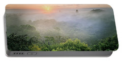Sunrise In Tikal Portable Battery Charger