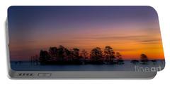 Sunrise On Lake Mattamuskeet Portable Battery Charger