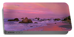 Portable Battery Charger featuring the photograph Sunrise On Sea Stacks Harris Sb Oregon by Dave Welling