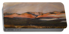 Portable Battery Charger featuring the painting Sunrise On The Ibex Valley by Brian Boyle
