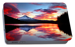 Sunrise On The Lake Portable Battery Charger by Darren  White