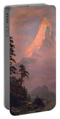 Sunrise On The Matterhorn Portable Battery Charger by Albert Bierstadt