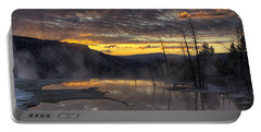 Sunrise On The Terrace Portable Battery Charger