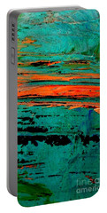 Portable Battery Charger featuring the painting Sunrise On The Water by Jacqueline McReynolds