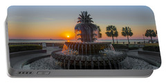 Sunrise Over Charleston Portable Battery Charger