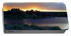Sunrise Over Kinney Lake Portable Battery Charger by Clarice  Lakota
