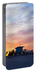 Sunrise Over Venice Beach Portable Battery Charger by Art Block Collections