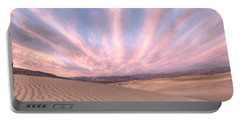 Sunrise Over Sand Dunes Portable Battery Charger
