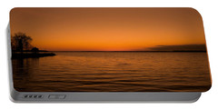 Portable Battery Charger featuring the photograph Sunrise Over The Lake Of Two Mountains - Qc by Juergen Weiss