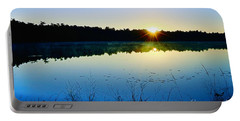 Sunrise Over The Lake Portable Battery Charger