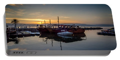 Sunrise Over The Sea Of Galilee Portable Battery Charger