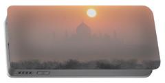 Sunrise Over The Taj Portable Battery Charger