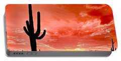 Sunrise Saguaro National Park Portable Battery Charger