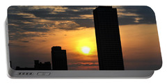 Sunrise Silhouette Buffalo Ny V2 Portable Battery Charger by Michael Frank Jr