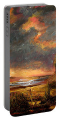 Sunrise With Birds  Portable Battery Charger