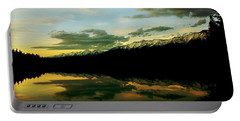Sunset 1 Rainy Lake Portable Battery Charger