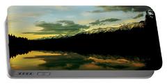 Sunset 1 Rainy Lake Portable Battery Charger by Janie Johnson