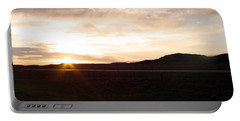 Portable Battery Charger featuring the photograph Sunset Across I 90 by Cathy Anderson