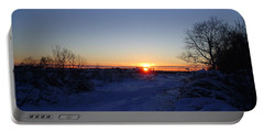 Sunset After The Snow Portable Battery Charger