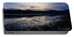 Sunset At A Lake Near Mammoth In Yellowstone Portable Battery Charger