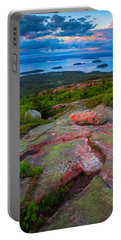 Sunset At Cadillac Mountain Portable Battery Charger