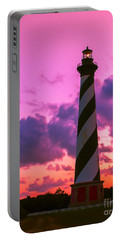 Sunset At Cape Hatteras Vertical  Portable Battery Charger by Nick Zelinsky