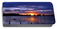 Sunset At Creve Coeur Park Portable Battery Charger