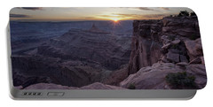 Sunset At Deadhorse Point Portable Battery Charger