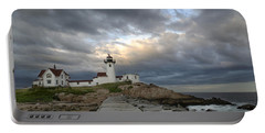Sunset At Eastern Point Lighthouse Portable Battery Charger